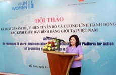 Tỷ lệ nữ tham gia Quốc hội Việt Nam cao hơn mức trung bình toàn cầu