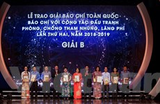 Toàn cảnh Lễ trao giải báo chí với công tác phòng, chống tham nhũng