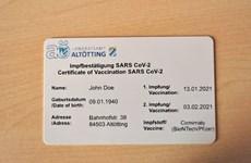 Nơi đầu tiên ở Đức phát hành thẻ chứng nhận tiêm chủng vắcxin COVID-19