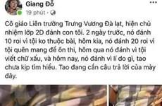 Lâm Đồng: Tạm đình chỉ công tác giáo viên đánh học sinh