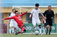 Hình ảnh đẹp trận đấu 'derby' Thủ đô giữa Thể Công với CAHN sau 25 năm