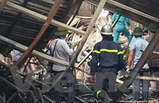 Hình ảnh tại vụ hỏa hoạn tại vụ cháy kho nhà xưởng tại Trung Văn