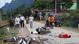 Lạng Sơn: Hai xe máy đâm trực diện khiến 5 người thương vong