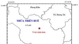 Động đất ở Thừa Thiên-Huế, không gây thiệt hại về người và tài sản
