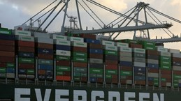 Tàu Ever Given cập cảng Rotterdam 4 tháng sau vụ mắc kẹt tại kênh Suez