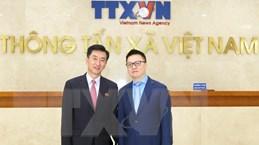 Phó Tổng Giám đốc TTXVN tiếp Đại biện lâm thời CHDCND Triều Tiên