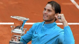 Cận cảnh Nadal hạ gục Djokovic, lên ngôi tại Rome Masters