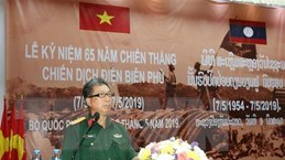 Lào tổ chức míttinh trọng thể 65 năm Chiến thắng Điện Biên Phủ