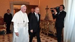 Tổng thống Nga Vladimir Putin hội kiến Giáo hoàng Francis