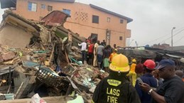 Sập một tòa nhà đang xây ở Nigeria, ít nhất 8 người thiệt mạng