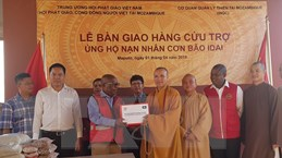 Giáo hội Phật giáo Việt Nam trao hàng cứu trợ tại Mozambique