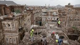 Yemen: Mưa lớn khiến nhiều ngôi nhà thuộc Thành phố cổ Sanaa sụp đổ