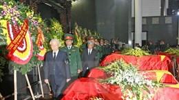 [Photo] Truy điệu sỹ quan, quân nhân hy sinh trong vụ rơi máy bay