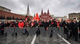 Tuần hành kỷ niệm Cách mạng Tháng Mười Nga ở thủ đô Moskva