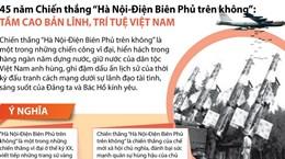 [Infographics] Ý nghĩa chiến thắng 'Hà Nội-Điện Biên Phủ trên không'