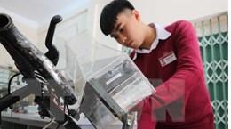 Xe đạp lọc khí - sáng tạo bảo vệ môi trường của học sinh Lâm Đồng