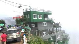Hà Giang tạm dừng hoạt động công trình vi phạm trên đèo Mã Pì Lèng