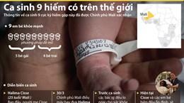 [Infographics] Người phụ nữ Mali gây sốc khi sinh cùng lúc 9 em bé