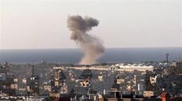 Không quân Israel tiến hành tấn công các mục tiêu tại dải Gaza