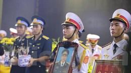 Quang cảnh xúc động của lễ truy điệu 9 liệt sỹ CASA-212