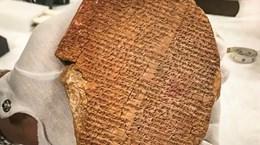 Mỹ trao trả Iraq phiến đất sét 3.500 năm khắc sử thi Gilgamesh