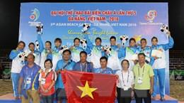 Bế mạc Đại hội Thể thao Bãi biển châu Á, Việt Nam nhất toàn đoàn