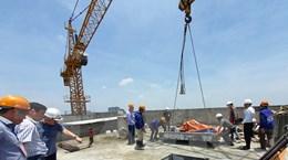 Hà Nội đã cắt sàn mái tầng 18 công trình số 8B Lê Trực
