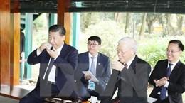 Tổng Bí thư dự tiệc trà cùng Tổng Bí thư, Chủ tịch Trung Quốc