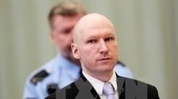 Na Uy không xét đơn kháng cáo của kẻ giết người hàng loạt Breivik