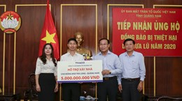 THACO hỗ trợ xây lại ngôi làng cho đồng bào dân tộc ở Trà Leng