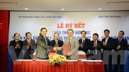 """Tiền Giang """"bắt tay"""" VNPT để xây dựng thành phố thông minh"""