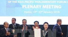 Thông cáo chung Hội nghị lần thứ 26 Diễn đàn Nghị viện châu Á-TBD