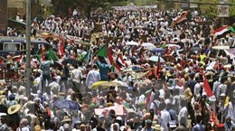 Hàng trăm người biểu tình tiếp tục đổ về thủ đô Khartoum của Sudan