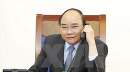 Thủ tướng Nguyễn Xuân Phúc điện đàm với Quyền Tổng thống Hàn Hwan