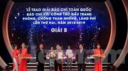 VietnamPlus giành giải B Giải báo chí đấu tranh phòng chống tham nhũng