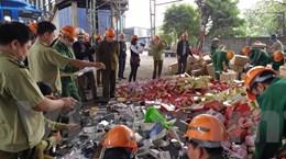 Hà Nội tiêu hủy 63 tấn hàng hóa vi phạm trị giá gần 6 tỷ đồng