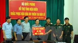 Bộ Quốc phòng hỗ trợ Điện Biên 1 tỷ đồng khắc phục hậu quả mưa lũ
