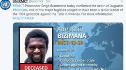 ICC xác nhận tội phạm chiến tranh bị truy nã Augustin Bizimana đã chết