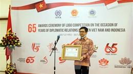 Trao giải thiết kế logo kỷ niệm 65 năm quan hệ Việt Nam-Indonesia