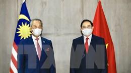 Hình ảnh Thủ tướng Phạm Minh Chính hội kiến Thủ tướng Malaysia