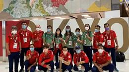 Những vận động viên Việt Nam đầu tiên từ Olympic Tokyo 2020 về nước