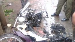 """""""Vụ nổ xe máy tại Bắc Ninh có dấu hiệu hình sự"""""""