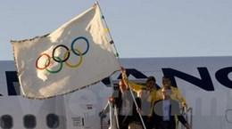 Lá cờ Olympic đã tới thành phố Rio de Janeiro