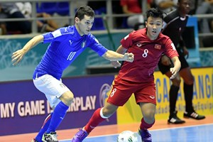 Video cận cảnh trận đấu lịch sử của đội tuyển Futsal Việt Nam