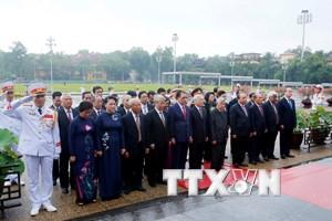 Hình ảnh lãnh đạo Đảng, Nhà nước viếng Chủ tịch Hồ Chí Minh