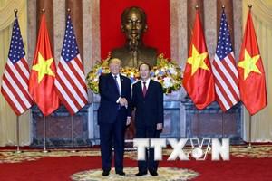 Chủ tịch nước Trần Đại Quang hội đàm với Tổng thống Hoa Kỳ