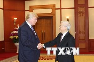 [Photo] Tổng Bí thư Nguyễn Phú Trọng tiếp Tổng thống Hoa Kỳ