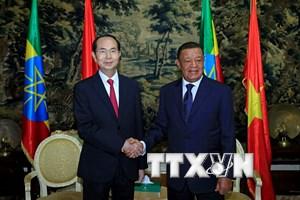 Việt Nam và Ethiopia tăng cường hơn nữa hợp tác song phương