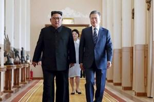 Lãnh đạo hai miền Triều Tiên viết lại lịch sử chia cắt dân tộc