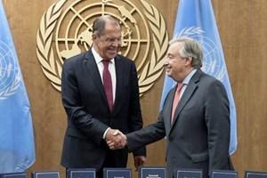 Nga thảo luận với Tổng thư ký LHQ về vấn đề Syria và Ukraine